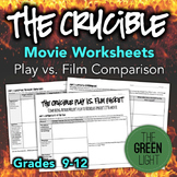 The Crucible Movie Study Guide, Worksheets, Packet