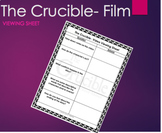 The Crucible Movie Viewing Sheet Chart Graphic Orgnaizer -Arthur Miller