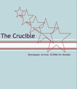 The Crucible Newspaper Article: A Digital Lesson for Moodle or Your LMS #edtech