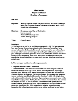 The Crucible Newspaper Assignment