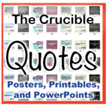 The Crucible Novel Quotes Posters And Powerpoints By Julie Dixon Beauteous The Crucible Quotes
