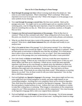 what is a close reading essay