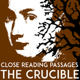 The Crucible Passages: Close Reading and Essay Test With T