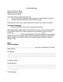 crucible theme essay