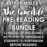The Crucible Pre-Reading Activities: Engage your students before reading!