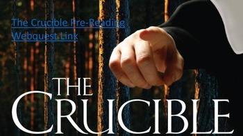 The Crucible Pre-Reading Webquest
