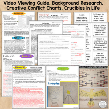 Crucible Activities Bundle - Pre-Reading and Post-reading