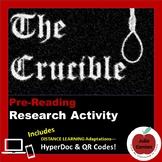 The Crucible--PreReading Research Activity - Distance Learning