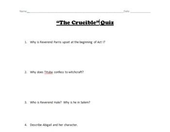 """The Crucible"" Quiz"