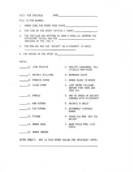 The Crucible Quiz Act 1 Version 2