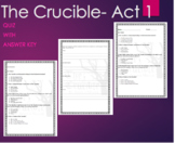 The Crucible Quiz Act 1 with ANSWER KEY -Arthur Miller