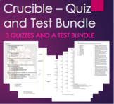 The Crucible - Quiz and Test Assessment Bundle Act 1, 2, 3 and 4