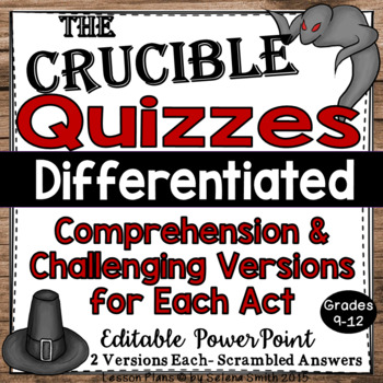 The Crucible Quizzes - Acts 1, 2, 3, 4