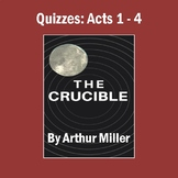 """""""The Crucible"""": Quizzes (All 4 Acts) and Answer Keys"""