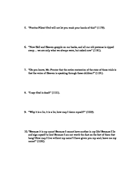 The Crucible Quotations Worksheet