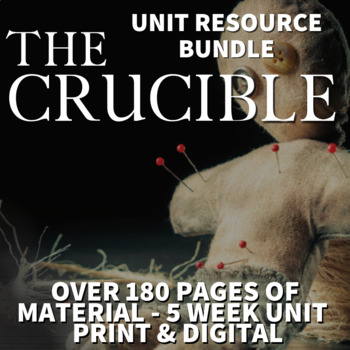 The Crucible Literature Guide Unit of Study - Novel Activities, Tests, Lessons