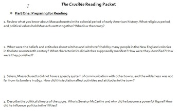 The Crucible Reading Packet