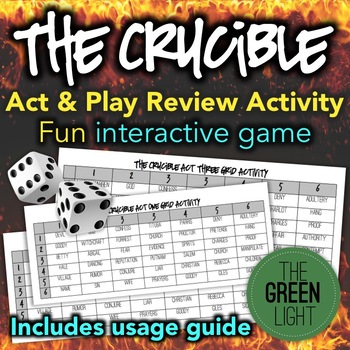 The Crucible Review Activity: Game, Group Work, Quiz, Bell-Ringer