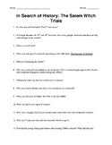 The Crucible - Salem Witch Trial Movie Notes