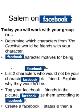 The Crucible:  Salem on Facebook