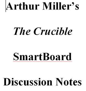 The Crucible SmartBoard Discussion Notes