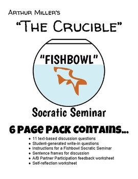 The Crucible: Socratic Seminar (Fishbowl) Activity