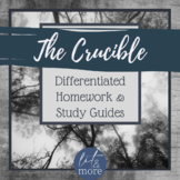 The Crucible Differentiated Homework & Study Guides