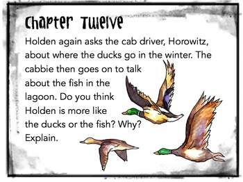 The Catcher in the Rye Task Cards: Quizzes, Discussion Questions, Bell-Ringers