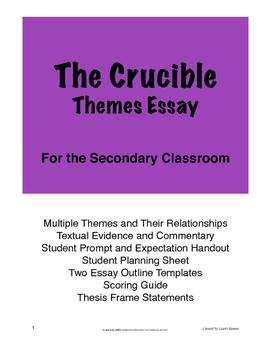 The Crucible Themes Essay; Secondary Classroom; Theme Essay
