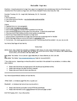 The Crucible Tragic Hero Essay By Kim Cimney  Teachers Pay Teachers The Crucible Tragic Hero Essay Healthy Food Essays also English Essay Examples  Thesis Argumentative Essay