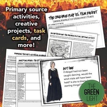 The Crucible Unit Plan Bundle -- Worksheets, PowerPoint, Handouts