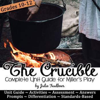 The Crucible Literature Guide, Unit Plan, 4-5 weeks, Arthur Miller