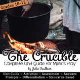The Crucible Literature Guide, Unit Plan, Arthur Miller