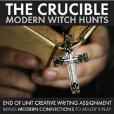 Crucible, Modern Witch Hunts, Creative Writing, Arthur Miller Play, The Crucible