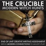 Crucible, Modern Witch Hunts, Creative Writing, Arthur Miller Play, The Crucible