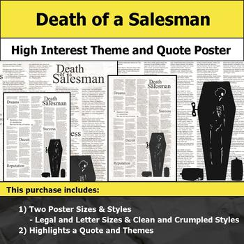 Death of a Salesman - Visual Theme and Quote Poster for Bulletin Boards