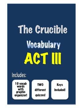 The Crucible - Vocabulary- ACT III