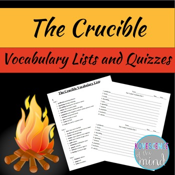 The Crucible Vocabulary List and Quizzes