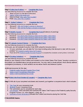 The Crucible WebQuest Dropbox Files