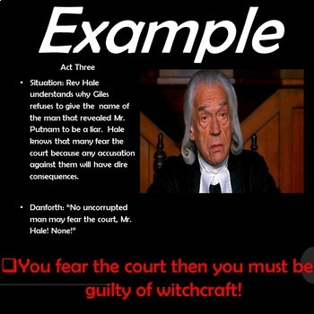 The Crucible: What Were They Thinking! Introducing Logical Fallacies