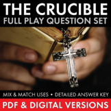 Crucible Worksheets to Use as Quizzes, Discussion & HW Arthur Miller's Play CCSS