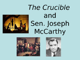 The Crucible and Joseph McCarthy Power Point Presentation