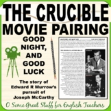THE CRUCIBLE Good night, and good luck. MOVIE GUIDE and PARALLELS TO PLAY