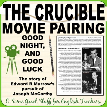 mccarthyism in the crucible 1984 The crucible has 274220 ratings and 6058 reviews  by jk rowling 1984 by  george orwell pride and prejudice by jane austen  arthur miller's scathing  indictment of 50's era mccarthyism was more interesting than i thought it would  be.