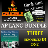 The Crucible, Huck Finn, and Embedding Quotes for AP Lang -- Discounted Bundle!