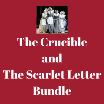 The Crucible and The Scarlet Letter Bundle
