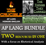 The Crucible and The Things They Carried - Rhetorical Analysis Focus- AP Lang