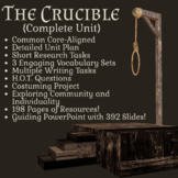 The Crucible by Arthur Miller - Full Unit (198 pages of re