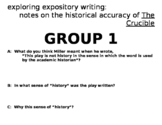 The Crucible, expository activity