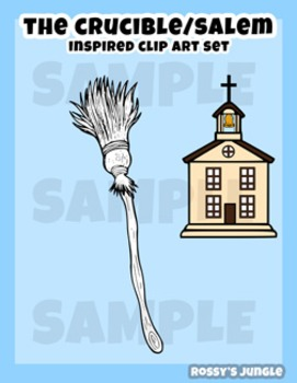 The Crucible or Salem Witch Trials inspired clip art set